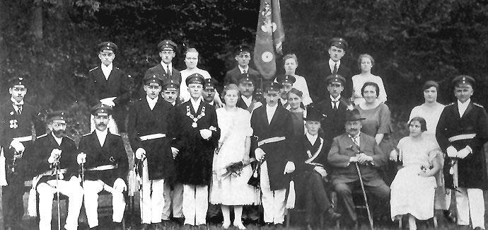 Schützenverein Hofolpe -Das erste Königsfoto
